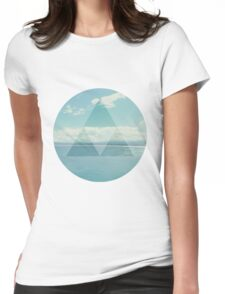 Beach View Womens Fitted T-Shirt