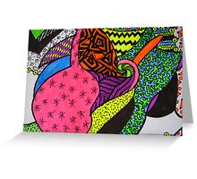 Abstract Fluoro 3 by Heatherian Greeting Card