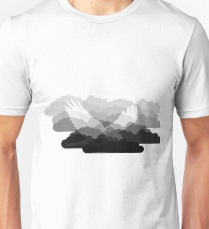Grey Bird Cloud Unisex T-Shirt