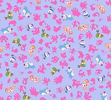 Chibi Pokemon Patterns! Sinnoh/Generation 4 by Yuririi