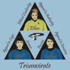 Star Trek Triumvirate - Black Text for Light shirts by reddesilets