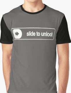 Slide To Unloc Funny Graphic T-Shirt