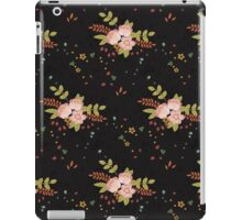 Woodland Flowers - Black iPad Case/Skin