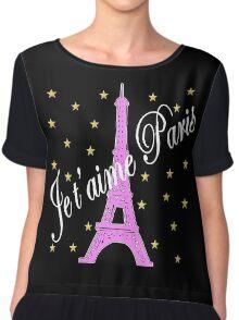 JE T'AIME PARIS FOREVER Chiffon Top