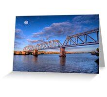 Moon River - Railway Bridge at Murray Bridge, South Australia Greeting Card