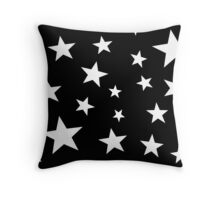 Star Spangled Black Night Throw Pillow