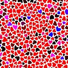 Love Hearts Pattern  by CroDesign