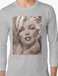 Mucha 2 sepia Long Sleeve T-Shirt
