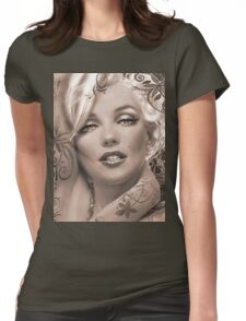 Mucha 2 sepia Womens Fitted T-Shirt