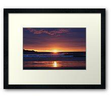 Sunset in the Catlins - New Zealand Framed Print