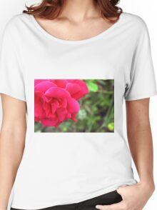 Macro on pink rose. Women's Relaxed Fit T-Shirt