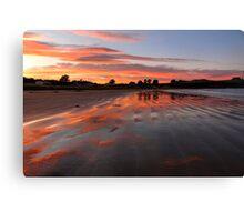 Catlins sunset - New Zealand Canvas Print