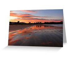 Catlins sunset - New Zealand Greeting Card