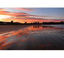 Catlins sunset - New Zealand Photographic Print