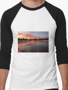 Catlins sunset - New Zealand Men's Baseball ¾ T-Shirt