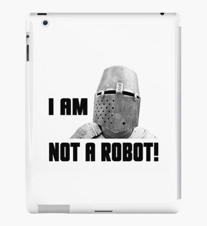 Knight - I Am Not A Robot iPad Case/Skin