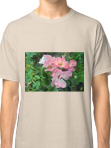 Beautiful small light pink flowers in the garden. Classic T-Shirt