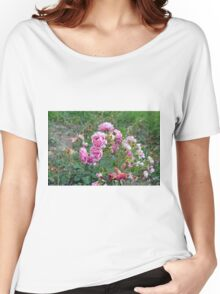 Colorful flowers in the garden. Women's Relaxed Fit T-Shirt