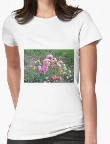 Colorful flowers in the garden. Womens Fitted T-Shirt