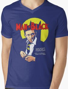 Man In Black Suit Mens V-Neck T-Shirt