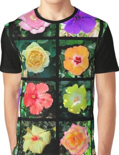 BEAUTIFUL FLOWER PHOTO COLLAGE Graphic T-Shirt