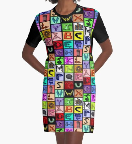The Alphabet 2015/ Breathing in the Words Graphic T-Shirt Dress