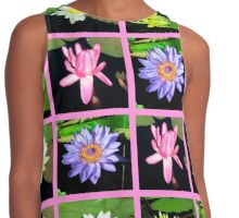 LOVELY WATER LILY PHOTO DESIGN Contrast Tank