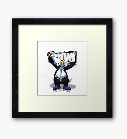 Empoleon Lifting The Cup Framed Print