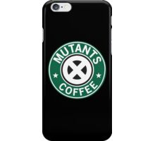 Mutants coffee iPhone Case/Skin