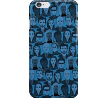 X Men Characters - Blue iPhone Case/Skin