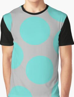 Dot - Turquoise and Grey Graphic T-Shirt