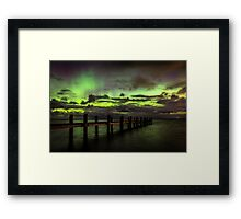 Awarua Bay and Aurora Australis Framed Print