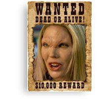 Buffy Harmony Wanted 1 Canvas Print