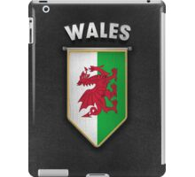 Wales Pennant with high quality leather look iPad Case/Skin