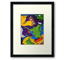 Tea for Two Abstract  Section 4 by Heather Holland Framed Print
