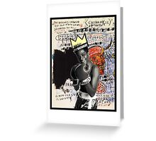 Basquiat (black border) Greeting Card