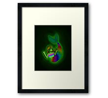 Floating in the Sea Framed Print
