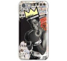Basquiat (black border) iPhone Case/Skin