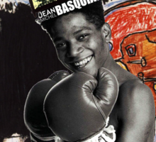 Basquiat (black border) Sticker