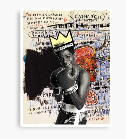 basquiat (white border) Canvas Print