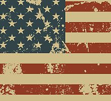 America Patriotic Grunge Flag  by CroDesign