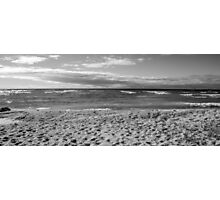 Grayscale Lake Michigan Photographic Print
