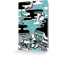 Waves On The Rock Greeting Card