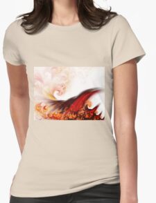 Flow - Abstract Fractal Artwork Womens Fitted T-Shirt