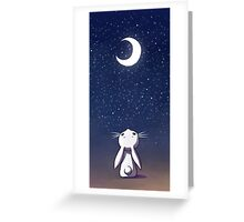 Beautiful Moon Bunny Greeting Card