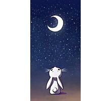 Beautiful Moon Bunny Photographic Print