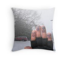 Winter Vacations Throw Pillow