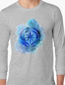 Vallite Royal Crest Watercolor Long Sleeve T-Shirt
