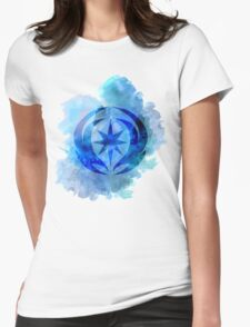 Vallite Royal Crest Watercolor Womens Fitted T-Shirt