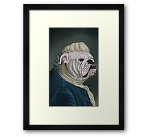 Pup Portrait with Lace Jabot Framed Print